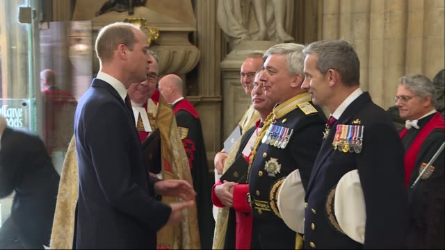 Prince William attends Royal Navy service at Westminster Abbey ENGLAND London Westminster Westminster Abbey PHOTOGRAPHY** Penny Mordaunt MP arriving...