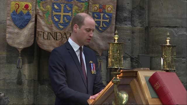 Prince William attends Royal Navy service at Westminster Abbey ENGLAND London Westminster Westminster Abbey INT Prince William Duke of Cambridge...