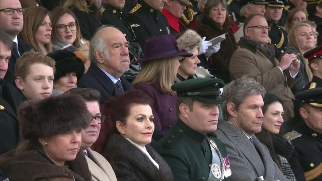 Prince William attends Sovereign's Parade at Sandhurst Academy ENGLAND Berkshire Royal Military College Sandhurst EXT Various shots of Sandhurst...