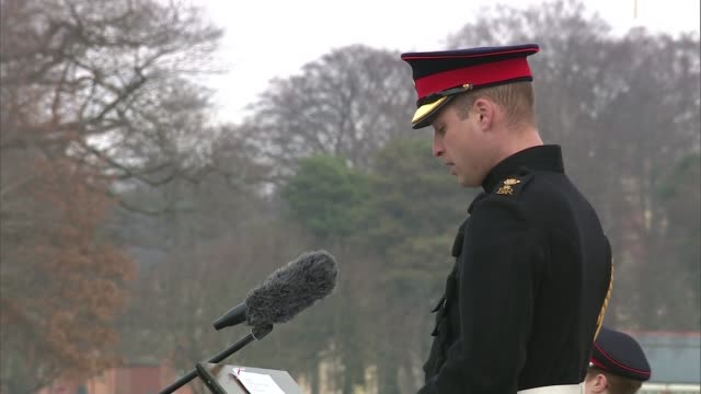 Prince William attends Sovereign's Parade at Sandhurst Academy ENGLAND Berkshire Royal Military College Sandhurst EXT Prince William Duke of...