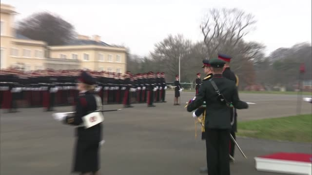 Prince William attends Sovereign's Parade at Sandhurst Academy ENGLAND Berkshire Royal Military College Sandhurst EXT Various of Prince William Duke...