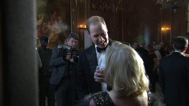 Prince William attends Tusk Trust gala Shows interior shots Prince William meeting Debra Meaden Katherine Jenkins Andrew Levitas Charlie Mayhew Mary...