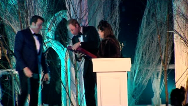 Prince William attends Winter Whites Gala in Kensington Palace Performances / speeches Unidentified woman speech SOT / Jonathan Ross hosting SOT /...