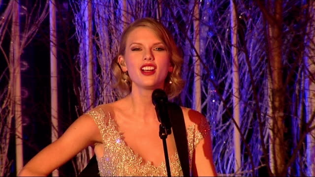 Prince William attends Winter Whites Gala in Kensington Palace Performances / speeches Taylor Swift speaking to audience SOT / Swift performing song...