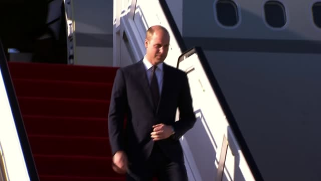 prince william begins middle east tour israel / jordan prince william duke of cambridge arrives in israel / prince william at archaeological site of... - herzog von cambridge stock-videos und b-roll-filmmaterial