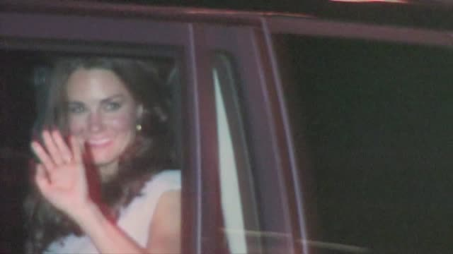 Prince William Catherine Duchess of Cambridge leaving the 2011 BAFTA Brits To Watch Event in Los Angeles