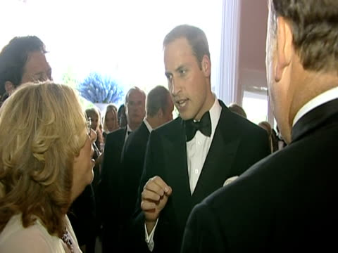 prince william chats to various guests at the ark 10th anniversary gala dinner - ark stock videos and b-roll footage