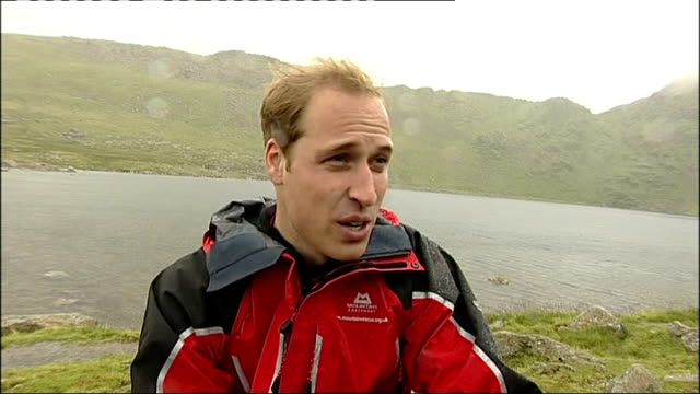 Prince William climbs fell with homeless teenagers EXT Prince William interview SOT It's great fun and all the Centrepoint guys long to come to do...