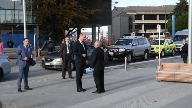 Prince William Duke of Cambridge arrives at Christchurch Hospital on April 26 2019 in Christchurch New Zealand Prince William is on a twoday visit to...