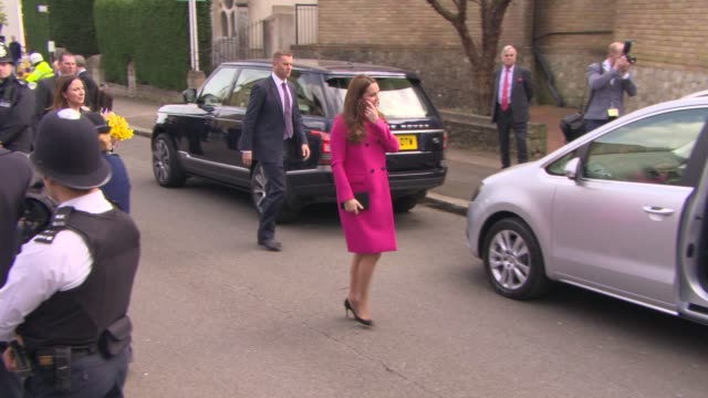 prince william duke of cambridge catherine duchess of cambridge at the duke and duchess of cambridge visit xlp on march 27 2015 in london england - casacca video stock e b–roll