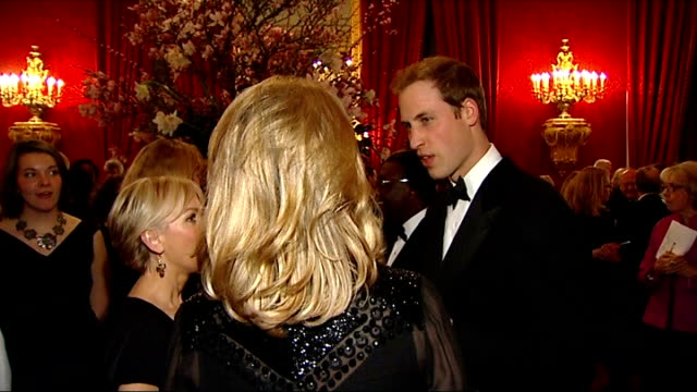 prince william hosts event for homeless charity 'centrepoint' prince william speech prince william talking to lisa maxwell and young / prince william... - lisa maxwell stock videos and b-roll footage
