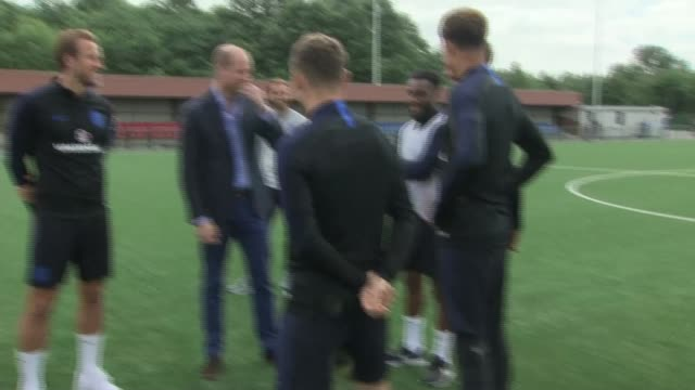 prince william meets england team england west yorkshire leeds pan england squad / harry kane introducing prince william duke of cambridge to england... - harry kane soccer player stock videos & royalty-free footage