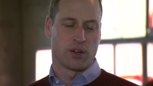 prince william meets football players for 'heads up' mental health campaign; england: london: paddington: ext prince william, duke of cambridge... - mental health stock videos & royalty-free footage