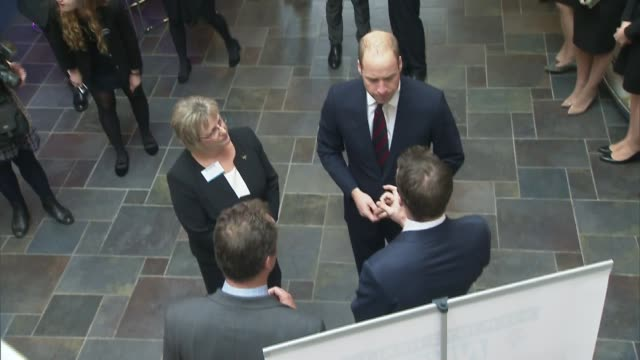 Prince William meets military veterans during hospital visit ENGLAND Hampshire Basingstoke Basingstoke and North Hampshire Hospital INT Various of...