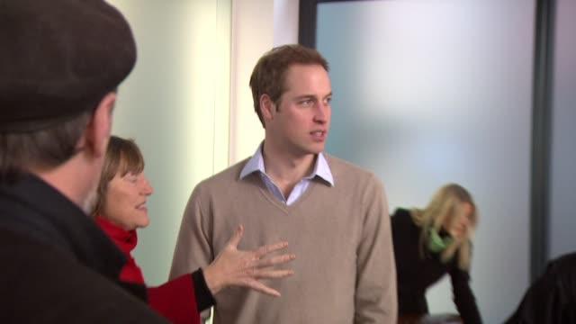 HRH Prince William meets Rankin and his team London United Kingdom