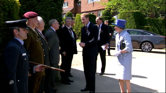 prince william opens new help for heroes rehabilitation centre at headley court england surrey headley court ext prince william arriving in car and... - surrey england stock videos & royalty-free footage