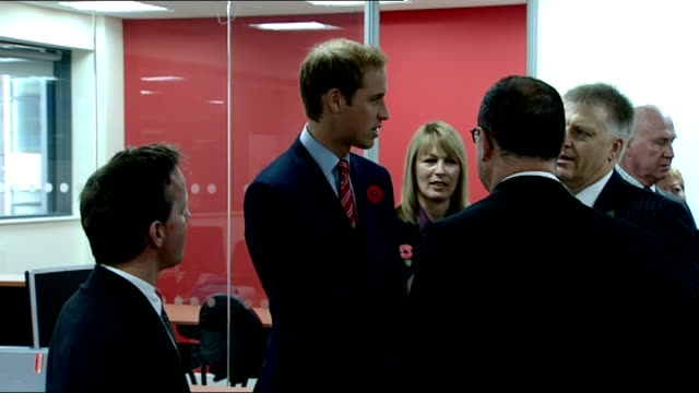 vidéos et rushes de prince william opens new media centre for media wales wales cardiff media wales media centre photography*** cutout of prince william amongst montage... - sandra oh