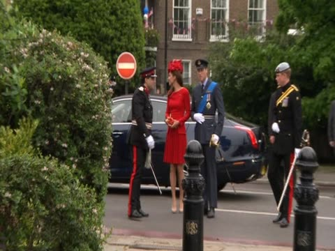 Prince William Prince Harry and the Duchess of Cambridge arrive for Diamond Jubilee celebrations