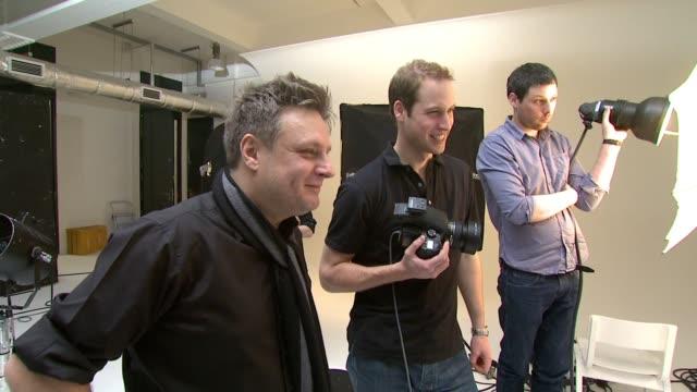 HRH Prince William Rankin and Jeff Hubbard discuss the shoot London United Kingdom