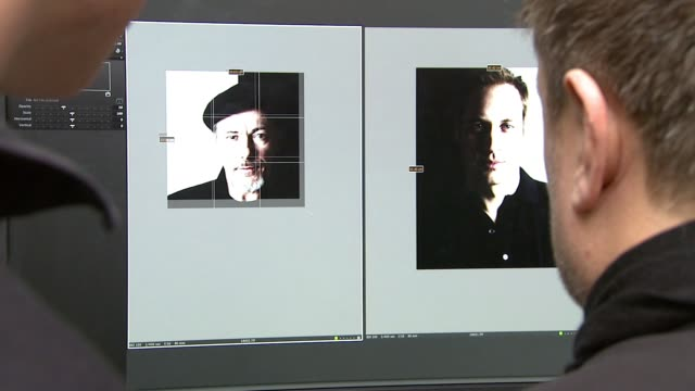 hrh prince william rankin and jeff hubbard revue recently shot portraits and the beginnings of the diptych london united kingdom - revue stock videos and b-roll footage