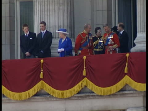 prince william road rage incident lib princes william and harry on balcony of buckingham palace with other royals including queen and prince philip - 2003 stock videos and b-roll footage