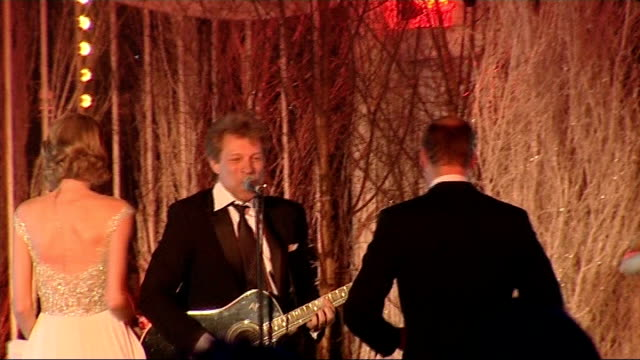 Prince William sings with Jon Bon Jovi and Taylor Swift at Winter Whites Gala INT Jon Bon Jovi performing song 'Livin' on a Prayer' and inviting...