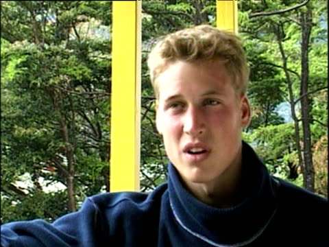 Prince William talks about difficulties of being private person during Raleigh International expedition Patagonia 11 Dec 00