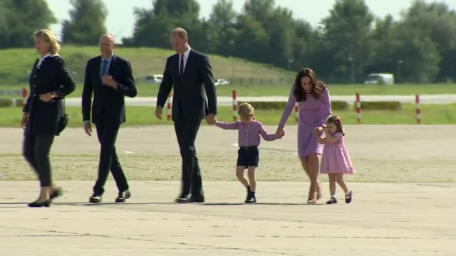 prince william talks about his mother in new itv documentary hamburg ext prince william and catherine along with chlidren prince george of cambridge... - duchess of cambridge stock videos & royalty-free footage