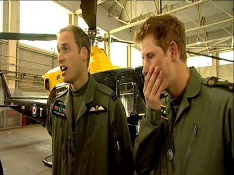Prince William talks candidly about his desire to serve in Royal Forces during training session RAF Shawbury 18 June 2009