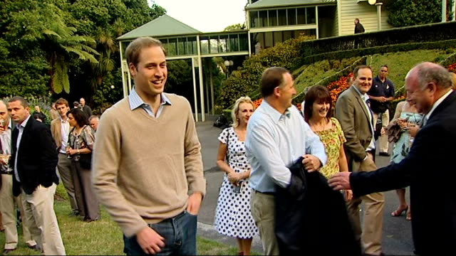 Prince William tour day two Kapiti Wellington Wellington Premier House *** FLASH Prince William along from car shaking hands with John Key introduced...