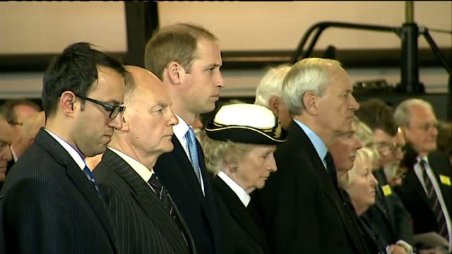 prince william visit to royal navy submarine museum in gosport william and others standing in silence / people standing in silence then listening to... - gosport stock videos & royalty-free footage