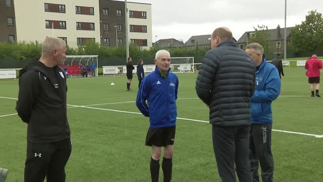 prince william visiting a football club in edinburgh - pitch stock videos & royalty-free footage