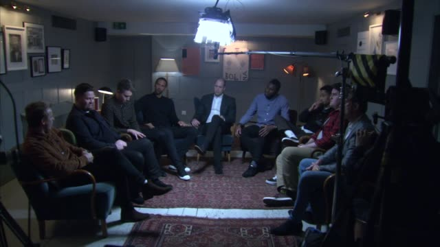 Prince William visits CALM charity Group discussing significance of best friends / Prince William saying Prince Harry hasn't asked him to be best man...