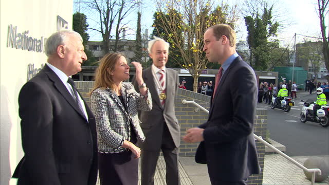 prince william visits the royal marsden nhs foundation shows exterior shots prince william arriving at the royal marsden centre for molecular... - greater london stock videos and b-roll footage