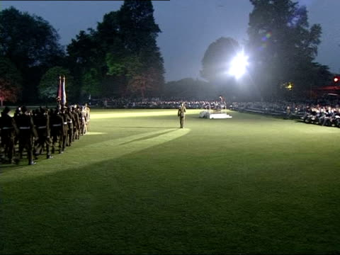 eton cadets parade; news at ten: tom bradby sky pool england: berkshire: eton college: ext at night cms side prince harry, in uniform of a military... - uniform stock videos & royalty-free footage