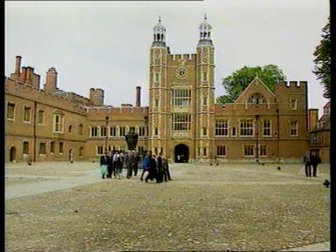Princes call for end to mourning as Harry starts at Eton LIB Diana Princess of Wales along with Prince Charles and sons Prince William and Prince...