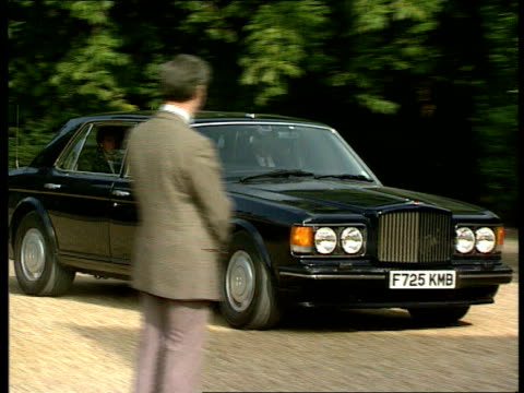 william's first term at ludgrove school england berkshire wokingham gv's school and grounds cars along driveway princess diana and william out of car... - collection stock videos and b-roll footage