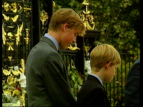 princes collection 2 g september 1997 selected shots on the death of diana princess of wales from 'the diana collection' tape 3 rushes compilation... - begräbnis stock-videos und b-roll-filmmaterial