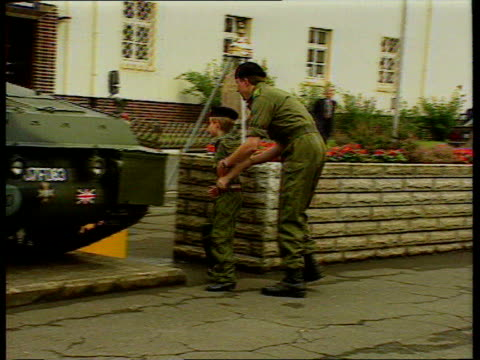 princes collection 3 t29079314 princess diana and prince henry with the troops in germany prince harry running with soldier to apc harry in helmet... - armoured personnel carrier stock videos & royalty-free footage