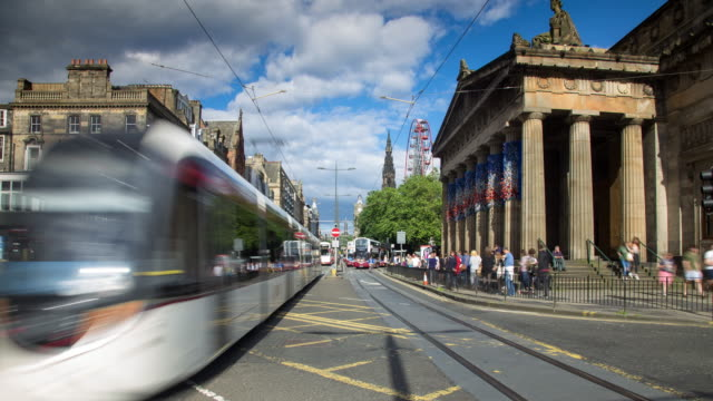 Princes Street, Edinburgh - Time Lapse