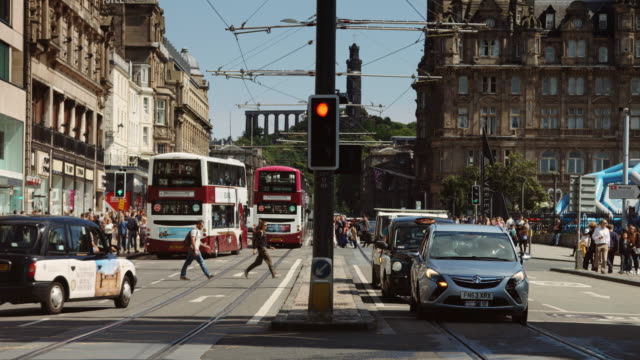 Princes Street in the Shadow of Carlton Hill