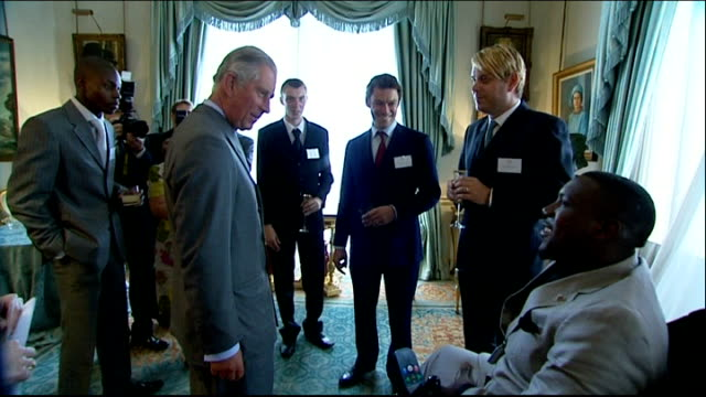 Prince's Trust 35th Anniversary Prince Charles hosts reception at Clarence House ENGLAND London Clarence House PHOTOGRAPHY ** Prince Charles towards...