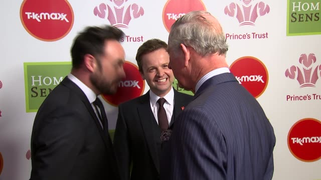 prince's trust celebrate success awards arrivals and presentations england london throughout*** prince charles from car int prince charles along... - phillip schofield stock videos & royalty-free footage