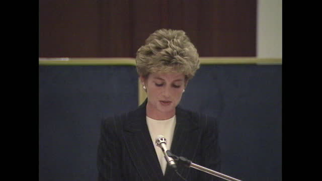princess diana addresses aids conference in london, reflecting on the first dying aids patient she met and how patients today are still being... - medium shot stock videos & royalty-free footage