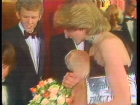 princess diana and prince charles attend a premiere for the film et the extraterrestrial in 1982 - film premiere stock videos & royalty-free footage