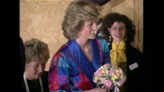 princess diana attends a reception, and views dresses, to mark london fashion week. - design stock videos & royalty-free footage