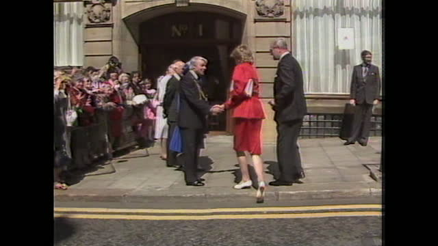 princess diana attends the opening of newcastle drug clinic. - prevention stock videos & royalty-free footage