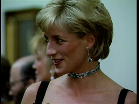 Princess Diana bodyguard book concerns LIB Princess Diana chatting to people at reception