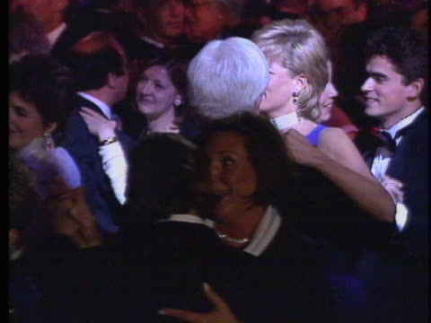princess diana dances with phil donahue at cancer fundraiser in chicago. - gala stock videos & royalty-free footage