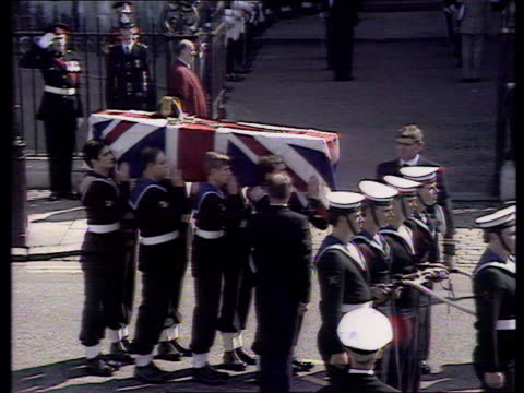 princess diana death; ex u18109402 westminster abbey: funeral of earl mountbatten - funeral stock videos & royalty-free footage